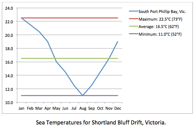 BLUFF DRIFT sea chart